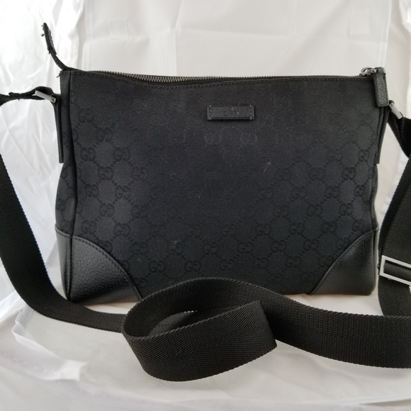 a436ac89f007 Gucci Bags   Black Monogram Messenger Bag   Poshmark